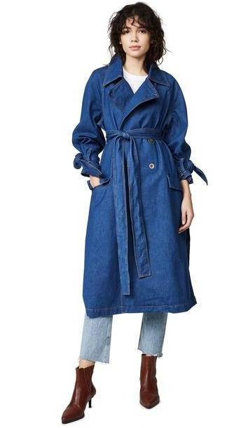 M.i.h Jeans Audie Denim Trench Coat cover image
