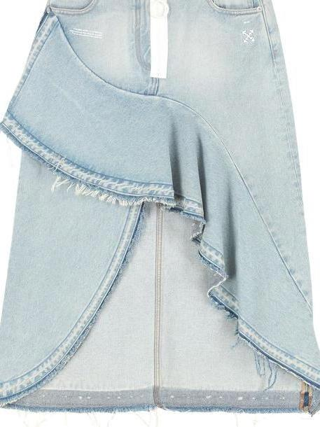 Off-White Asymmetrical Denim Skirt cover image