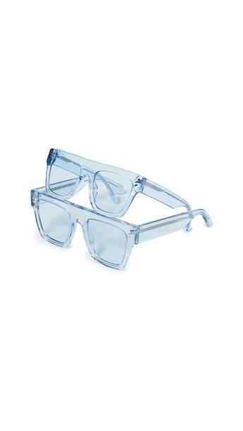 Stella McCartney Mum & Me Flat Top Sunglasses in blue / transparent cover image