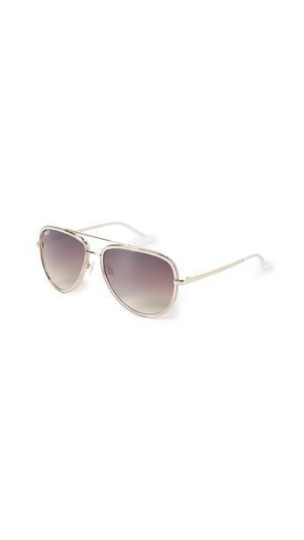 Quay All In Sunglasses in silver / clear cover image