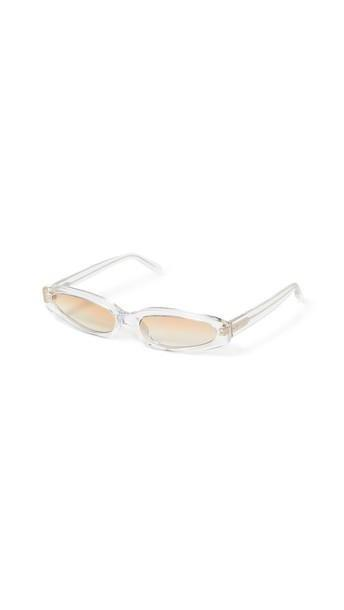 Linda Farrow Luxe Super Thin Sunglasses in gold / clear cover image