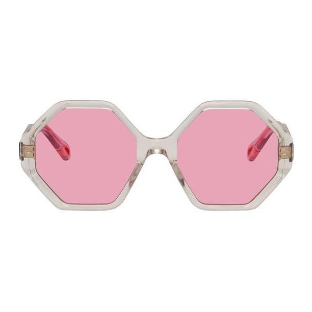 Chloé Chloé Transparent & Pink Oversized Octagon Sunglasses cover image
