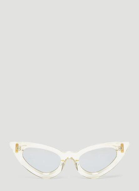 Kuboraum Maske Y3 Slim Cat Eye Sunglasses in Clear size One Size cover image