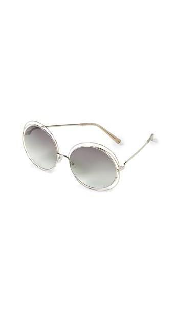 Chloe Carlina Sunglasses in gold / green / transparent cover image