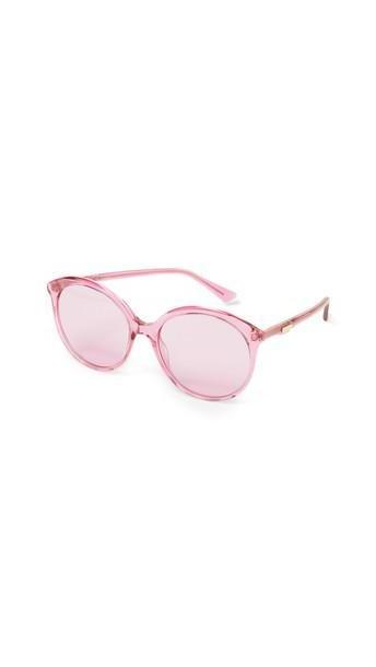 Gucci Round Monocolor Sunglasses in pink / transparent cover image