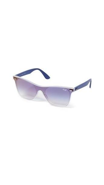 Ray-Ban Flat Sunglasses in blue / transparent cover image