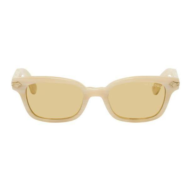 Gucci Beige Vintage Titanium Horn Sunglasses cover image