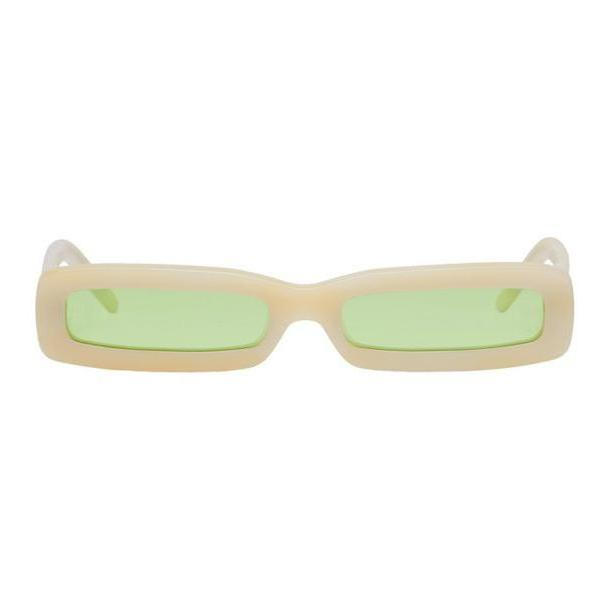 George Keburia Beige Long Rectangular Sunglasses cover image
