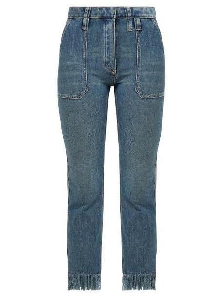 Chloé Chloé - Frayed High Rise Cropped Jeans - Womens - Denim cover image