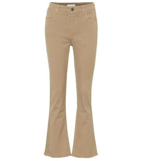 Etro Mid-rise straight jeans in beige cover image