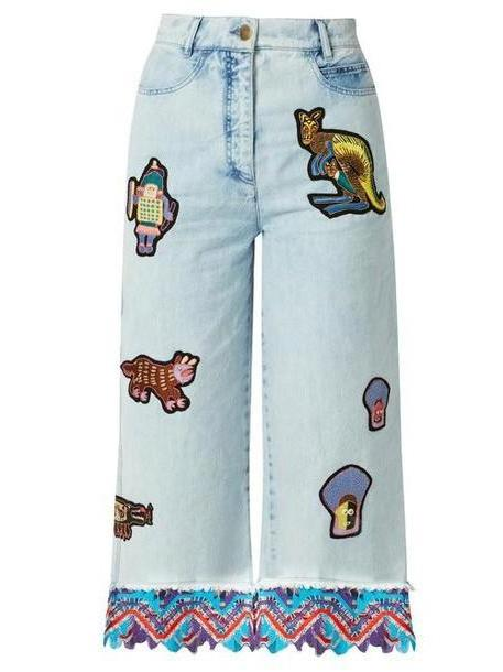 Peter Pilotto - Amex X Peter Pilotto + Francis Upritchard Jeans - Womens - Light Denim cover image