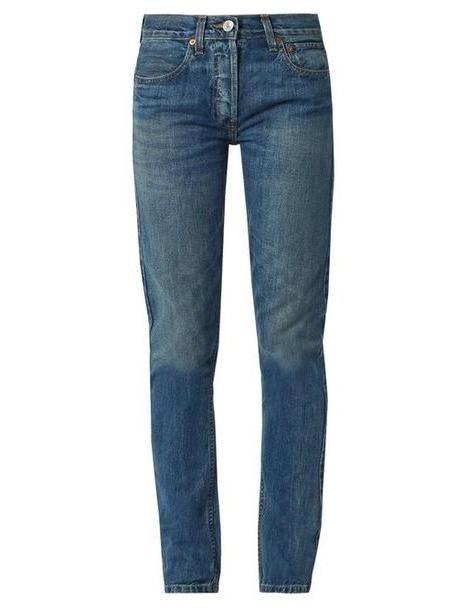 Re/done Originals - High Rise Straight Skinny Leg Jeans - Womens - Denim cover image