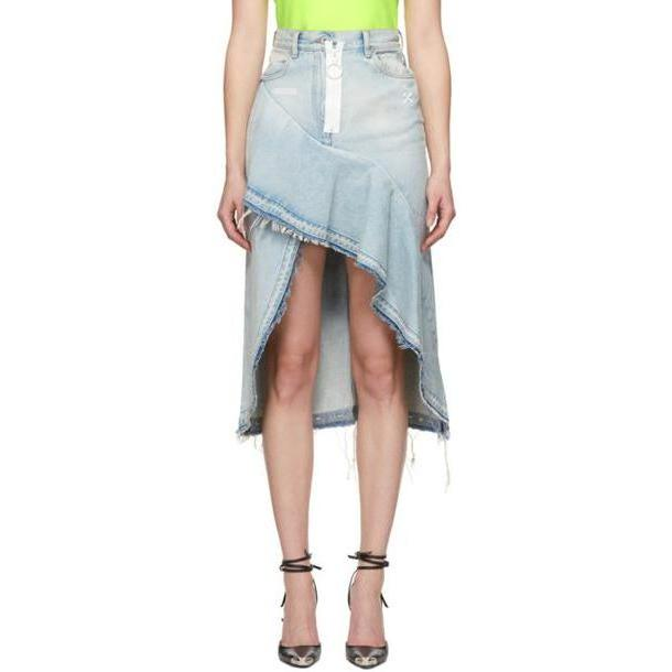 Off-White Blue Asymmetric Denim Skirt cover image