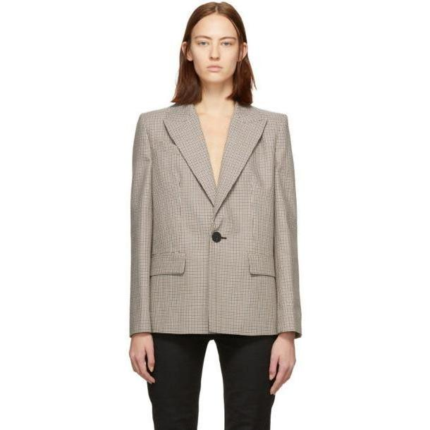 Givenchy Brown & Beige Prince of Wales Blazer cover image
