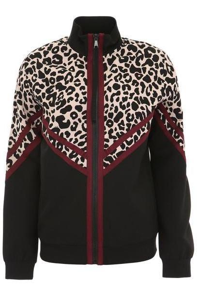 N.21 Track Jacket With Leopard Print cover image