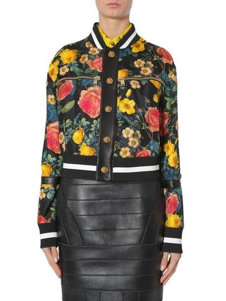 Fausto Puglisi Floral Print Bomber Jacket cover image