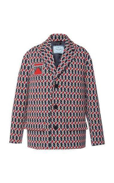 Prada Embroidered Jacquard Jacket in print cover image