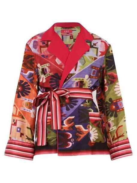 For Restless Sleepers Printed Twill Jacket in multi cover image