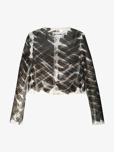 Moschino Brushstroke-print PVC jacket cover image
