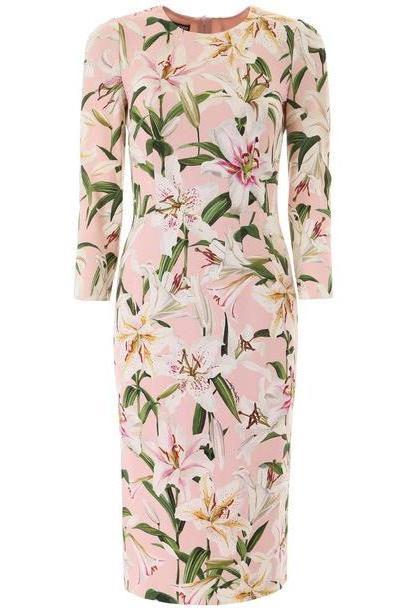 Dolce & Gabbana Lily Print Cady Dress cover image