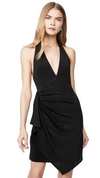 alice + olivia alice + olivia Marx Halter Neck Drape Dress in black cover image