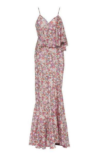 Zac Posen Floral-Patterned Sleeveless Maxi Dress in multi cover image