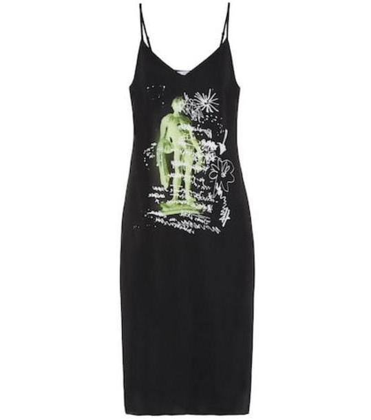 Proenza Schouler PSWL printed stretch slip dress in black cover image