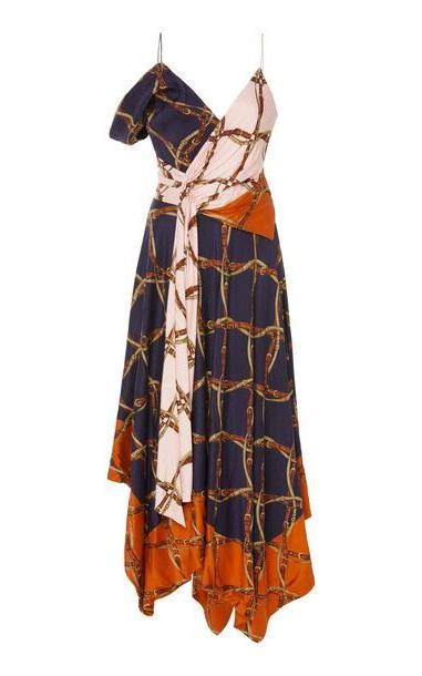Jonathan Simkhai Saddle Print Asymmetric Dress cover image
