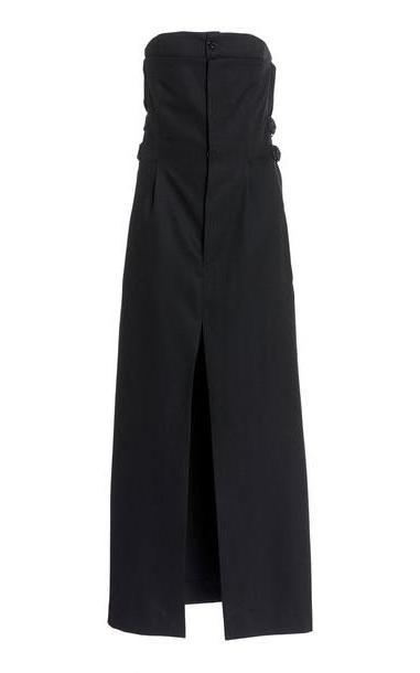 Acne Studios Dagila Strapless Wool Midi Suit Dress in black cover image