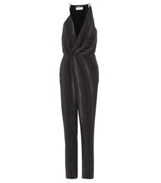 05b5ea5e9c1d59 Saint Laurent Silk-blend jumpsuit in black cover image