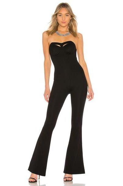 Michael Costello x REVOLVE Angelina Jumpsuit in black cover image