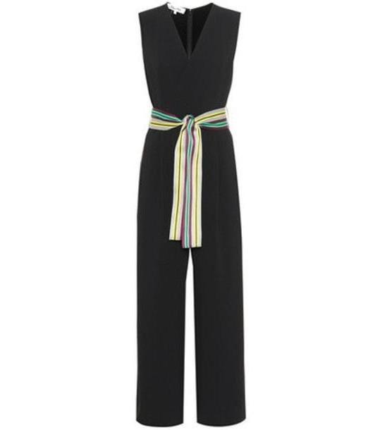 Diane von Furstenberg Belted faux-wrap jumpsuit in black cover image