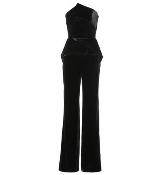 Roland Mouret Carradine velvet jumpsuit in black cover image