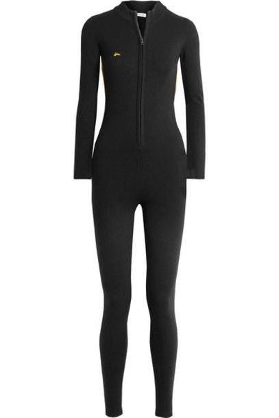 Bella Freud - Britt Lurex-trimmed Wool-blend Jumpsuit - Black cover image