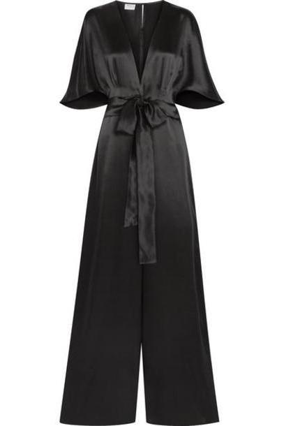 Cami NYC - The Keri Twist-front Silk-charmeuse Jumpsuit - Black cover image
