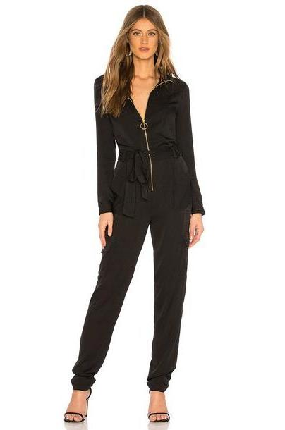MILLY Utility Jumpsuit in black cover image