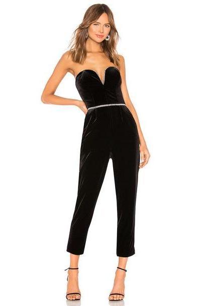 Amanda Uprichard x REVOLVE Cherri Jumpsuit in black cover image