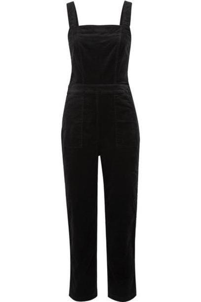 J.Crew - Cotton-blend Velvet Jumpsuit - Black cover image
