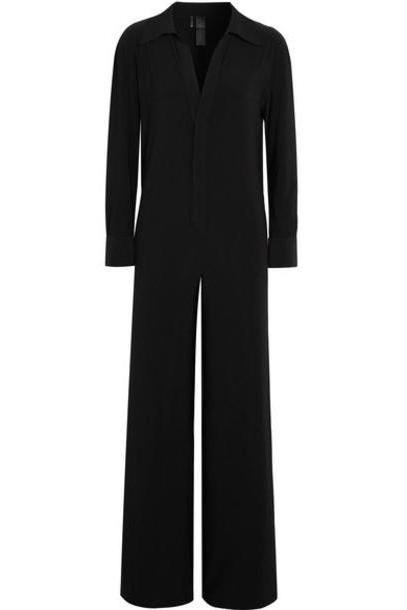 Norma Kamali - Stretch-jersey Jumpsuit - Black cover image