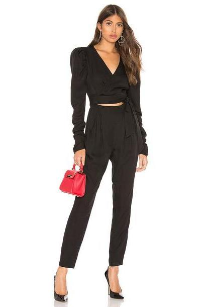 L'Academie The Mary Jumpsuit in black cover image