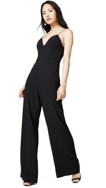 alice + olivia alice + olivia Lina Deep Sweetheart Jumpsuit in black cover image