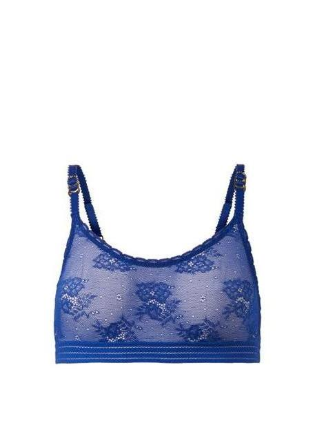 Stella Mccartney Lingerie - Lace Bralette - Womens - Blue cover image