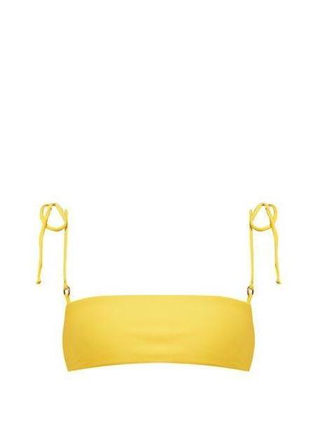 Jade Swim - Equate Tie Strap Bikini Top - Womens - Yellow cover image