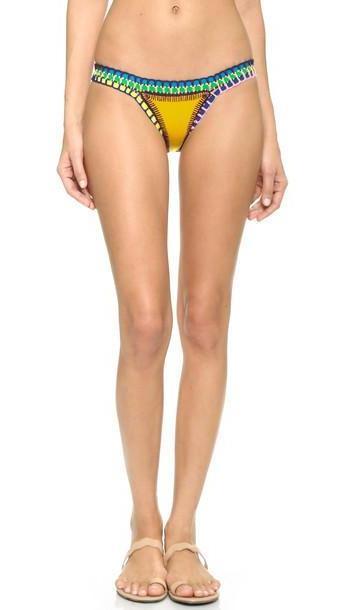 Kiini Ro Bikini Bottoms - Bright Yellow/Multi cover image