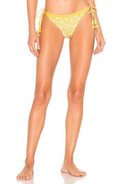 Agua Bendita x REVOLVE Tammy Bikini Bottom in yellow cover image