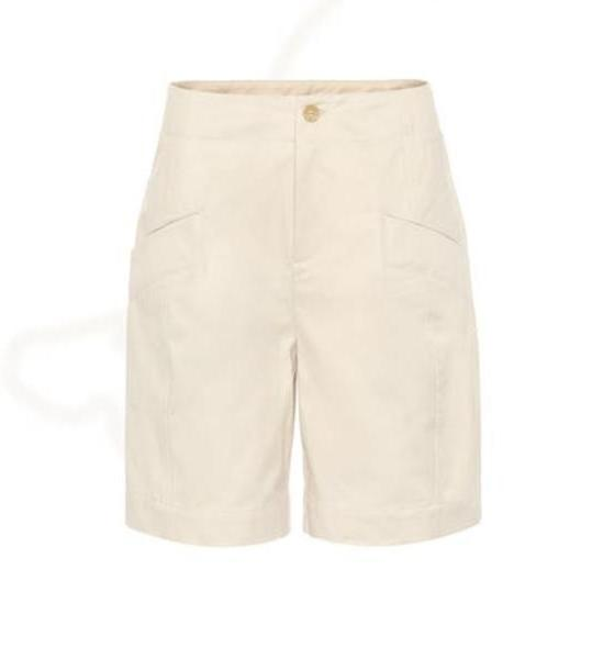 Acne Studios Cotton shorts in beige cover image