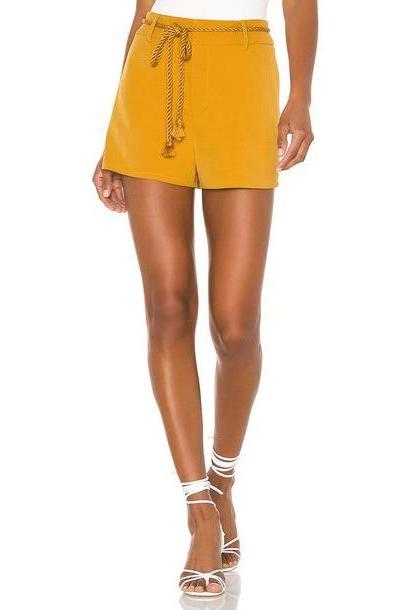 L'Academie Hyde Shorts in mustard cover image