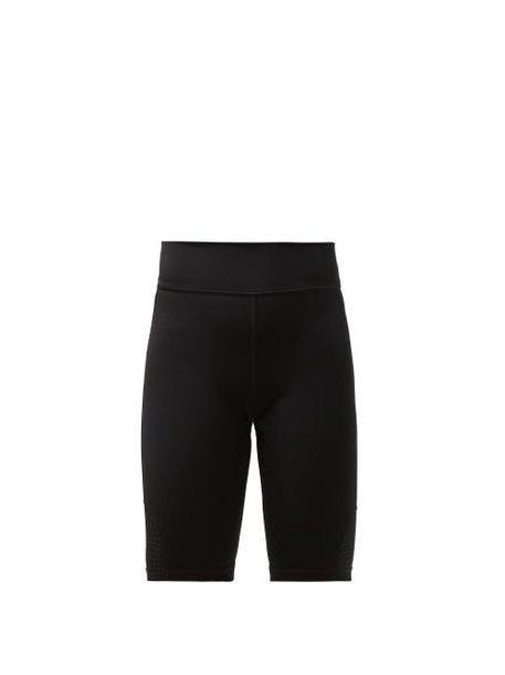 The Upside - Panelled Matte Stretch Jersey Cycling Shorts - Womens - Black cover image