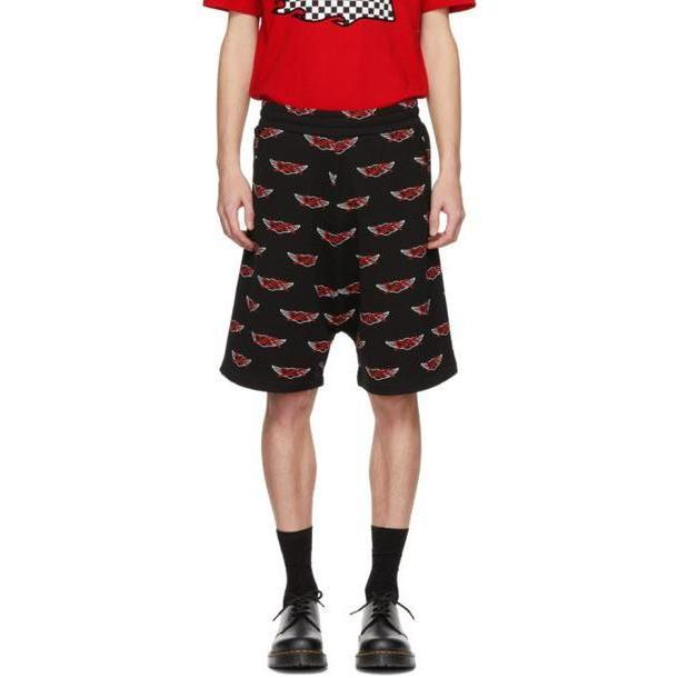 McQ Alexander McQueen Black All Over Racing Logo Low Shorts cover image
