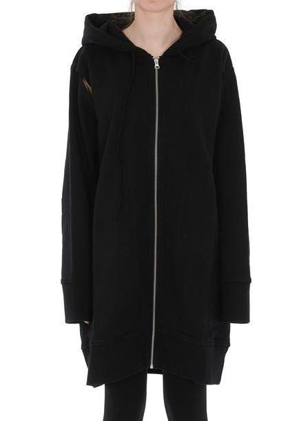 Mm6 Maison Margiela Oversized Hoodie in black cover image